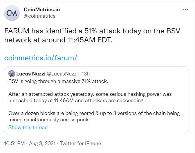 Bitcoin SV (BSV) %51 Saldırısıyla Karşı Karşıya