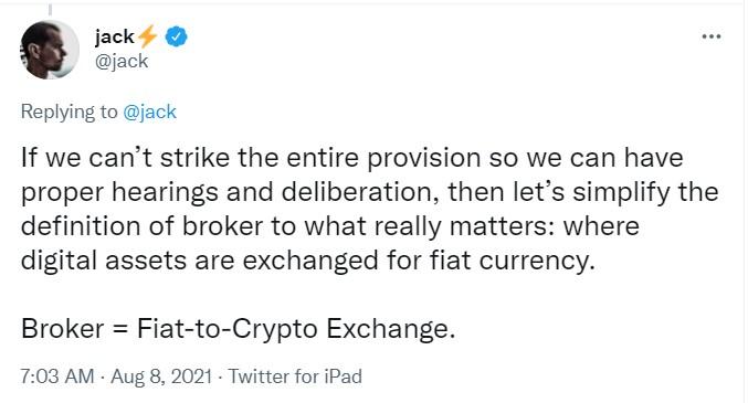 Jack Dorsey, Kripto Vergisi Tartışmasına Katıldı