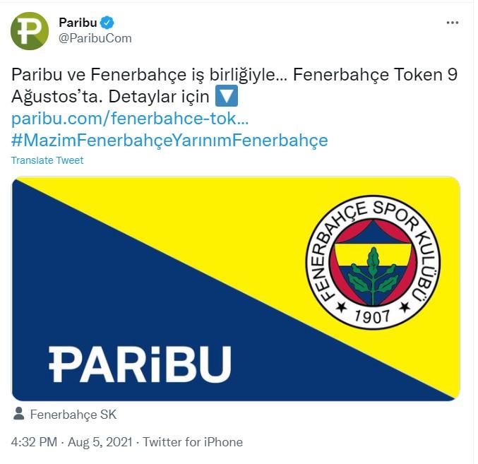 Fenerbahçe Token Piyasaya Sürülüyor