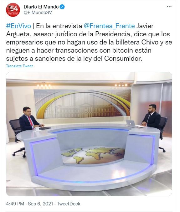 El Salvador: Bitcoin'i Benimsemeyen İşletmelere Yaptırım Uygulanacak